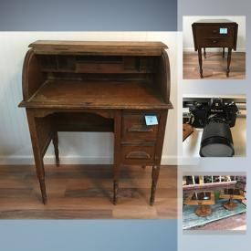 MaxSold Auction: This online auction features records, art glass, vintage dolls, wall art, mirrors, IKEA furniture, cameras, music books, pottery, tools and much more!
