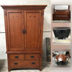 MaxSold Auction: This online auction features jewelry items, pearls, quilts, chairs, shoes, garden ornament, storm items, eyeglasses, pots and pans, hats, purses, christmas items, TV, lamps, snack tray, chest, dresser, drop leaf table, king-sized bed, wardrobe, neck massager and much more!