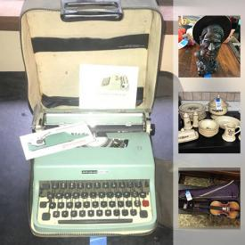 MaxSold Auction: This online auction features lamps, books, jewelry, wall art, glassware, office supplies, board games, picture frames, CDs, DVDs, TV, holiday decor, signs, piano, tools, tires, ladders, collectibles, and much more!
