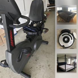 MaxSold Auction: This online auction features furniture such as grey sectional, L-shaped office desk, and 4 poster king-sized bed, Coleman barbecue, books, office supplies, iRobot roomba, glassware, board games, sporting equipment, Garmin GPS, framed posters, and much more!