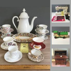 MaxSold Auction: This online auction features sewing supplies, sewing machine, vintage toys, dolls, cameras, costume jewelry, glassware, china, wall art, mirrors, board games, books, sheet music, sports equipment, tools, and much more!
