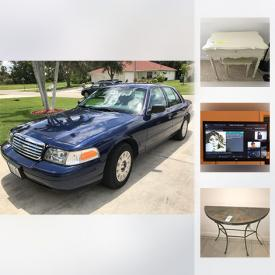 MaxSold Auction: This online auction features a 2005 Ford Crown Victoria, a Lynda Corneille teapot, Lionel Barrymore gold foil etchings, and more.