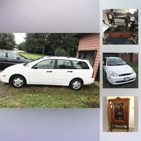 MaxSold Auction: This online auction features 2001 Ford Focus Station Wagon, Microwave Oven, Retro Sewing Machine, Kitchen Table And Chairs, Water Fountain, Panasonic Movie Camera, LG 47 inch TV, Lazyboy Recliner, Royal Albert China, and much more!
