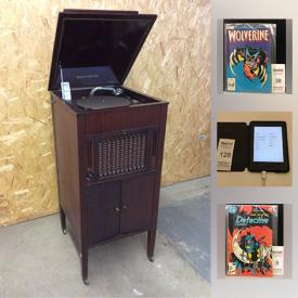 MaxSold Auction: This online auction features electronics such as Cross Fade II wireless headphones, Aeolian record player, and Amazon Kindle reader, vintage Japanese 45 RPM records, comic books such as The Flash, Batman, Wolverine, Detective Comics, X-Men, Blade Runner, and Action Comics, and much more!