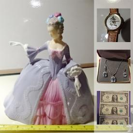 MaxSold Auction: This online auction features Croquet Set, Wooden Classic Cars, Silver necklace with Blue Topaz, Franklin Mint Porcelain Figurine, Mickey Mouse watch, Royal Bayreuth China set, Sony 5 Disc CD player, Vintage German Mantle Clock, Chinese silk art, Vancouver 2010 Olympic Coin set in RBC booklet and much more!