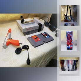 MaxSold Auction: This online auction features electronics such as original Nintendo with games, Super Nintendo with games, Atari controllers, and Guitar Hero for Wii U, pond filters, pet aquatics supplies, trading cards, collectible action figures and more!