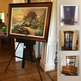 MaxSold Auction: This online auction features cabinets, art, furniture, appliances such as Grandfather clock, china cabinets, Robert Cox Painting, Kenmore Freezer and much more!