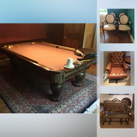 """MaxSold Auction: This online auction features Pool Table, Sony Bravia Flat Screen TV, Round Gateleg Table, Art Glass, Bose Wave CD, Kids Camping Gear. Vermont Castings Wood Burning Stove, Healthometer Medical Scale, Brother Fax/Scan/Copy Machine, Cannondale Men's Bicycle, Crosley Dehumidifiers, """"Rebecca at the Well"""" Statue and much more!"""