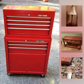 """MaxSold Auction: This online auction features Precious Moments, Collector Plates, Ladders, vinyl storage shed, Artwork of Clown, 50"""" Samsung TV, NY Yankee pennants, Vintage paper money, woman's Huffy bike, Asian Art and much more!"""