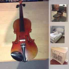 MaxSold Auction: This online auction features Centro Barbecue, Antique High Boy Dresser, Dutailier Glider, Antique Basswood/Linden Secretary, Vintage Sink, Hamilton Hope Chest, Vintage Violin, Guitar hero percussion set, LeapPad Learning Books, Harvest Table, Sony Elite Flatscreen, MCM Furniture, Hooker Smart Kids Furniture, Williams Sonoma Baking Moulds, Snow Tires and much more!!