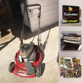 MaxSold Auction: This online auction features coin banks, Vintage Cameras, Antique Irons, Metal Lunch Boxes, Sterling Rings, Comic Books, Budweiser Sign, Lowrey Electric Organ, Pokemon cards, Giants Bobbleheads, OHaus Scale And Weights, Hot Wheels, Vintage Mad Magazines and much more!
