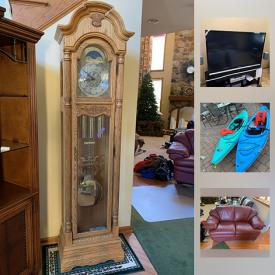 MaxSold Auction: This online auction features Rocker, Wash Stand, Roof Rack Storage, Love Seat, Nikon D40 Camera, Panasonic Palmcorder IQ camcorder, Hype IFX virtual reality headset, 61 inch Samsung Television, Surround Sound, Receiver, Howard Miller Grandfather Clock and much more!