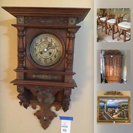 MaxSold Auction: This online auction features Art, Kitchen Aid Mixer, Area Rug, Grandmother Wall Clock, Rabbit Fur Rug, Recliner, Lladro, Royal Doulton Set Of China, Pine Armoir Chest, Tupperware Mugs and much more!