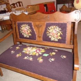 MaxSold Auction: This auctions features chair lot, popcorn maker and stand, statue, table and vases, art, jewelry, Barcelona style chair and table, display cabinet, silver tea set, vintage style bench, antique table, dining table, vintage coffee table, vintage cabinet, vintage headboard and table, and more!