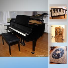 MaxSold Auction: This online auction features Capel Incorporated area rug, Wall Mirror, China Plates, Mahogany Occasional Table, Piano, Radial Arm Saw, Norco Bush Pilot ladies bike and much more!