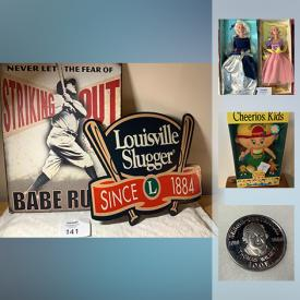 MaxSold Auction: This online auction features collectibles such as American currency, Pez dispensers, collector Barbies, Campbell's collectibles, Matchbox collectibles, and stamp collections, new cookware, new children's clothes, children's books, tin signs, new children's toys and much more!