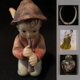 MaxSold Auction: This online auction features Goebel Hummels, Lladro Figurine, Royal Doulton Figurine, Hockey Cards, Craft Loom, Bissel Floor Steamer, Ryobi Grinder, Ott-Lite, Silver Earrings, Marasite Ring, Golf Clubs, Porcelain Doll, Ginger Jar and much more!
