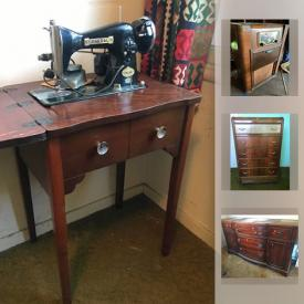 MaxSold Auction: This online auction features Vintage Dresser, Vintage General Sewing Machine, Vintage Bernhardt Buffet, Vintage Zenith Phono Radio and much more!