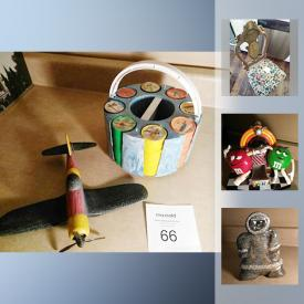 MaxSold Auction: This auction features antiques and collectibles. An antique dealers sale including Inuit art, soap stone, military items and much much more!