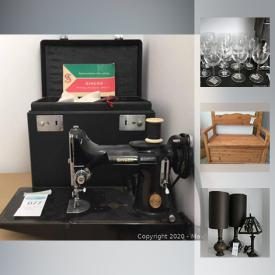 MaxSold Auction: This online auction features Low Vision Magnifier, Art Supplies, Filing Cabinets, Office Supplies, Stackable Box Shelves, Bedroom Furniture, Sewing Machines, Hand Tools, Camping Equipment, Space Heaters, Gardening Supplies, Wood Carving Tools, Electric Lawnmower, and much more!