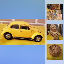 MaxSold Auction: This online auction features Vintage China Teacups, Lord of the Rings Collectibles, Diecast Vehicles, Action Figures, Vintage Buttons and Lapel Pins, Comics, Women's Leather Coats and much more!
