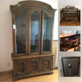MaxSold Auction: This online auction features Dining Table and Chairs, Steam Convection Oven, Noritake China, Recliner Couch, Safe, Bassett Bedroom Furniture, Work Bench, Lawnmower, Concrete Planter and much more!