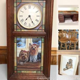 MaxSold Auction: This online auction features Cowboy Hats, Glass Table, Handbag Nightlight, Dog Sculptures, Horse Collectibles, Angel Collectibles, Yorkie Collectibles, Norman Rockwell Plaques, Framed Art and much more!