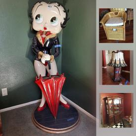 MaxSold Auction: This online auction features Ceramic Decorative Sheep, Smoker, Pottery Barn Dishes, Lenox Collectible Plates, Floor Lamps, Fitz And Floyd Rooster, Vintage Tiffany Style Lamp, Betty Boop Umbrella Stand, Lladro Figurine and much more!