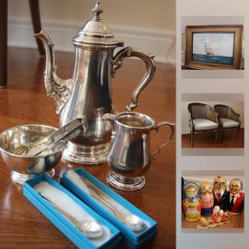 MaxSold Auction: This online auction features furniture, artworks, appliances, glassware, vintage items, electronics, decors, collectibles, figurines, toys, Tools, Cleaning Products, kitchen items, Bar Accessories, picnic items, Office Equipment and much more.