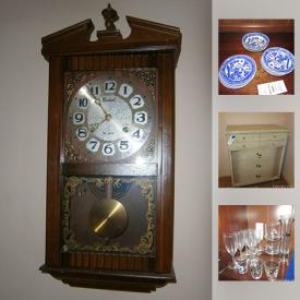 MaxSold Auction: This online auction features Dining Room Chairs, Curtains, Victrola Records, Centurion 35 Day Wind-Up Chiming Wall Clock, Craftsman Jigsaw, Wood Hutch and much more!