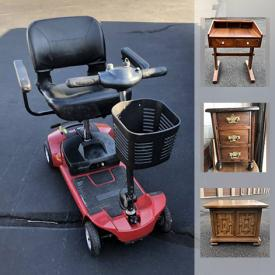 MaxSold Auction: This online auction features Lamps, Occasional Tables, Antique Steamer Trunk, Antique Offering Box, Antique Dollhouse Furniture, Mobility Scooter, Bar Advertisements and much more!
