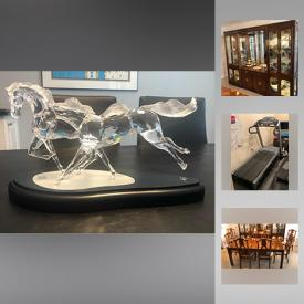 MaxSold Auction: This online auction features Swarovski Crystal Figurines, Swarovski Crystal Paperweights, Vintage Corning Ware, Embossed Serigraph Prints, Lalique Crystal Figurine, Daum France Crystal figurines, Murano Glass Elephants, Ultramafic Beds, Treadmill, Recumbent Bike Model, Sony Television and much more!