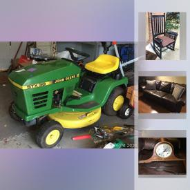 MaxSold Auction: This online auction features Rocking Chair, Basketball Goal, Fire Pit, Canoe, Hydrant, Light, Lawnmower, Riding Lawn Mower, Electric Fireplace, Vintage Royal Typewriter, Vintage Sled and much more!