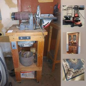 MaxSold Auction: This online auction features Snapper Mower, Cabbage Patch Dolls, Oak Dining Table, Rugs, Weslo Pursuit Exercycle, Air Compressor, Belt Sander and much more!