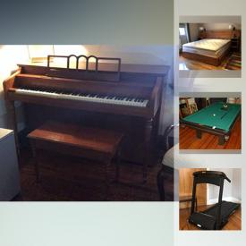 MaxSold Auction: This online auction features Mason and Risch mahogany piano, antique Swiss games table, and Dufferin pool table, collectibles such as Sterling silver flatware, Spode, antique crystal, and fossils, art such as carved wood statues, framed prints, and silk watercolours, electronics such as Denon receiver, DVD player, and Dell laptop, furniture such as Rosewood Asian style dining chairs, Hitchcock mahogany dresser, Mustering cabinets, and outdoor teak table, shelving units, wool area rug, glassware, Bridgestone tires, table lamps and much more!