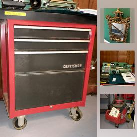 MaxSold Auction: This online auction features table, Sterling Silver, Silver Plate, Wedgwood, Ethan Allen End Tables, Rattan Sofa, Relian Dust Collector, Craftsman Tool Chest, Grizzly Variable Speed Metal Lathe, Hex Beam Radio Antenna, Bird Bath, Yeti Cooler, Husky Power Washer and much more!