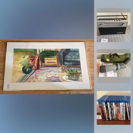MaxSold Auction: This online auction features Delft, Mathias Muleme print, watercolor, calculators, sports cards, coins, Chewbacca Figure, Superman items, Valentines collector plate and much more!