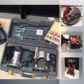 MaxSold Auction: This online auction features Chain Saw, Table Saw, Grinder, Router, Sliding Wet Saw, Ventilation Fan NIB, Flooring Nailer, Air Compressor and much more!