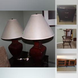 MaxSold Auction: This online auction features Brass Masks, Aged Green Pottery, Wedgwood, Ethan Allen Furniture, Binoculars, Saki Tea Set, Depression Glass, Spicher Prints, Antique Book Collections, Dasika Oshima Wall Art and much more!