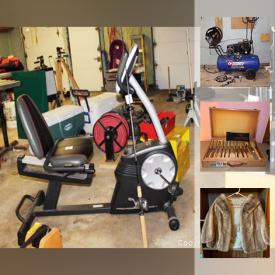 MaxSold Auction: This online auction features Stanley Bostitch pneumatic nailer, Bessey Wood Clamps, Lamiglass Fishing Rod With Shimano Calcutta Reel, Fishing Tackle, Campbell Hausfeld Air Compressor, Echo Hedge Trimmer, Hitachi Compound Saw, United States Coin Quarter Collection, Delta Duel 10 Inch Bench Grinder and much more!