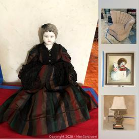 MaxSold Auction: This online auction features Cookie Jars, Milk Glass Christmas Balls, Herndon Coffee Table, Porcelain Doll, Deep Fryer, Teapots, Office Supplies, Antique Water Skis, Traditional Chairs and much more!