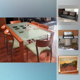 MaxSold Auction: This online auction features Oil Paintings, IKEA Cabinet Inserts, IKEA Storage Cabinet, Exterior Table, Ultra Chef Gas Barbecue, Queen Bed, leather couch, Area Rug, Dining Table and much!