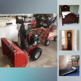 MaxSold Auction: This online auction features LG 3D TV, Hand-painted Asian Planters, Grand Mother Clock, Zaksal Amp, Electronic Keyboard, Samsung TVs, Window Air Conditioner, Ping Pong Table, Sports Equipment, Workout Station, Treadmill, Kimchi Fridge, Troy-Bilt Snowblower, Earthen Fermenting Pot, Blackmax Pressure Washer and much more!