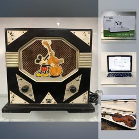 """MaxSold Auction: This online auction features LPs, Comics, Electric Guitar, Digital Cameras, Wood Chest, Sony 46"""" BRAVIA® V-Series TV, Vintage RCA Victor Company Radio, Star War Toys and much more!"""