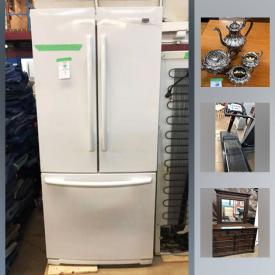 MaxSold Auction: This online auction features Refrigerators, Thomasville Wooden Buffet, Treadmills, Bow flex Weights, Portable Air Conditioner, Airplane Art, Frank Panabaker Framed Art and much more!