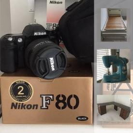 MaxSold Auction: This online auction features Dressmaker Deluxe sewing machine, Sony Walkman, Konica Camera, Casio Keyboard, Desk, Vacuum, Heater, Rowing Machine, Espresso Maker, Bed Frame and much more!