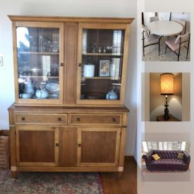 MaxSold Auction: This online auction features furniture, lamps, decors, glassware, collectibles, Dog Planter, Dog Statue, Amethyst Geodes, cookware, books, appliances, Rolling walker with seat and handbrakes, kitchenware and much more.