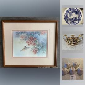 MaxSold Auction: This online auction features Lena Lieu Print, Easton Bat, Manitobah Mukluks NIB, Traditional Spode China, Imari China and much more!