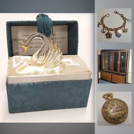 MaxSold Auction: This online auction features Vintage Watches, Toby Mugs, Kentucky Derby Glasses, Fenton Glass, Depression Glass, Carnival Glass, English Ironstone Blue Willow, Teacups, Beer Stein, Jewelry and much more!