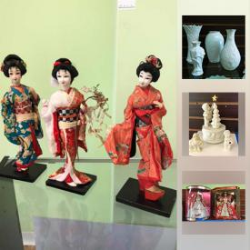 MaxSold Auction: This online auction features Department 56 Snowbabies, toys, Glass Display Case, Special Edition Barbies, Porcelain Dolls, Whirlpool Water Cooler, Nutcrackers, Lenox holiday items, Silverplate Tea Service and much more!
